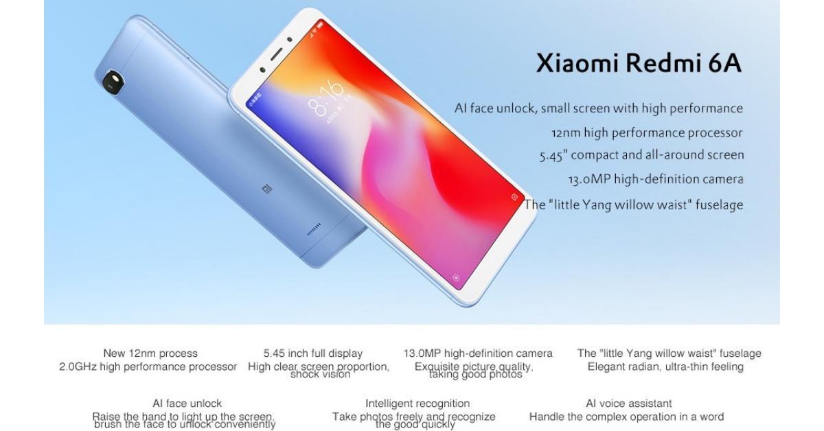 Xiaomi Redmi 6A specs