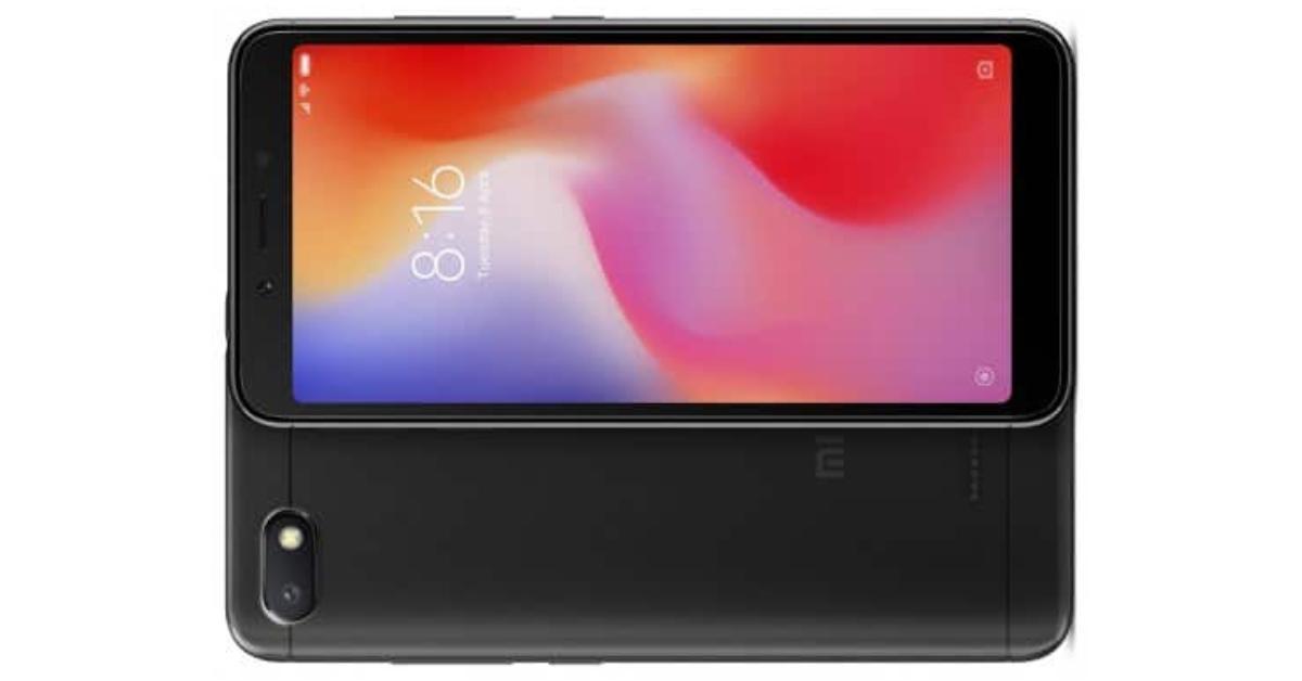 Xiaomi Redmi 6A voorkant en achterkant