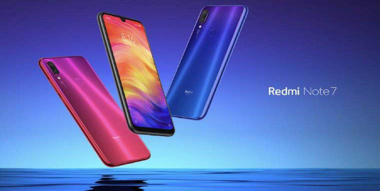 De Xiaomi Redmi note 7 met 48 MP camera.