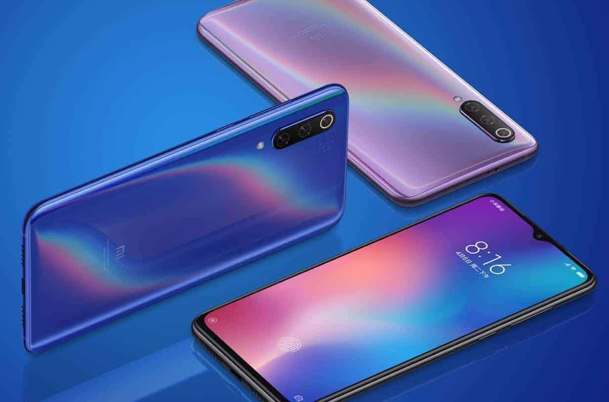 Xiaomi Mi 9 voorkant en achterkant