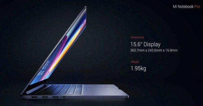 Xiaomi Mi Notebook pro GTX