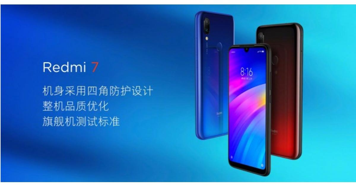 Xiaomi Redmi 7 introductie