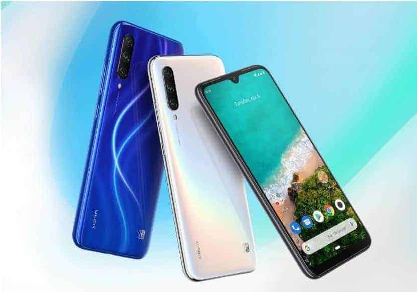 Xiaomi Mi A3 voorkant en achterkant