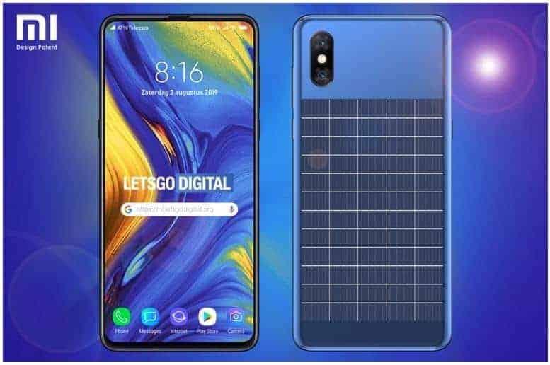 Xiaomi zonne-energie patent