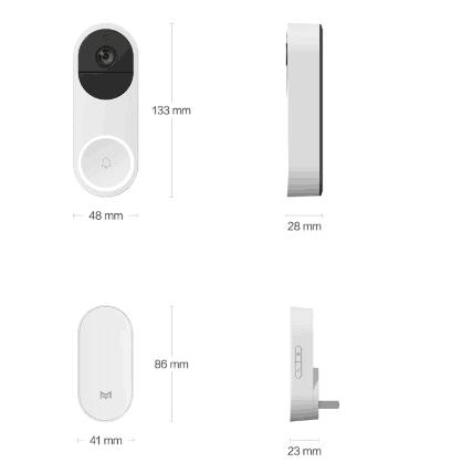 Xiaomi slimme deurbel afmetingen