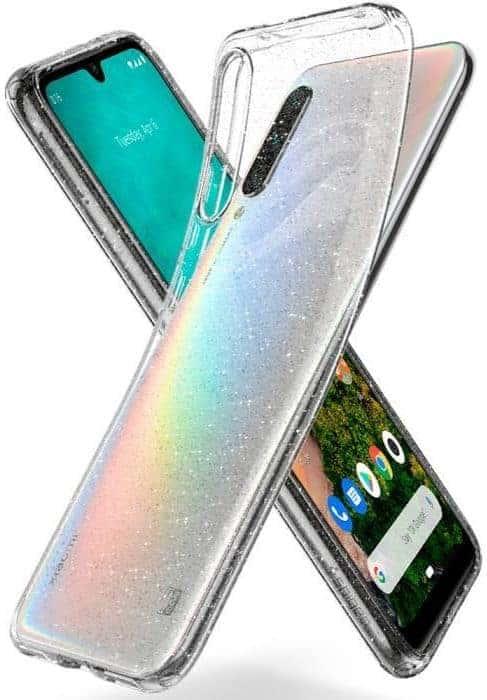 spigen liquid crystal xiaomi mi a3 glitter transparant 1