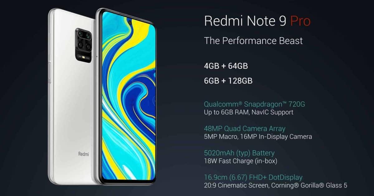 Lancering Redmi Note 9 Pro (MAX)