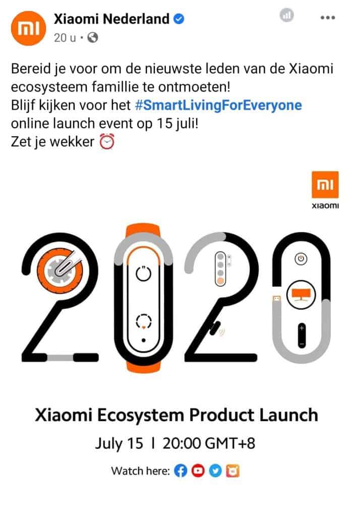 Xiaomi Product Launch 15 juli