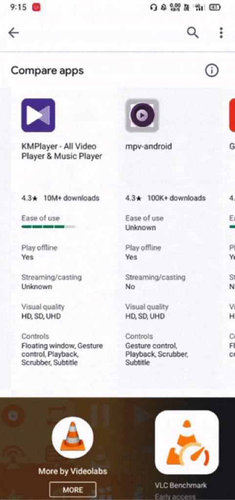 Androidvergelijken 1